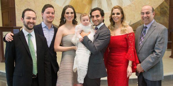 Óscar y Gabriel Kafati, Leila, Sofía y Mario Canahuati, Blanca Chinchilla y Oswaldo Kafati