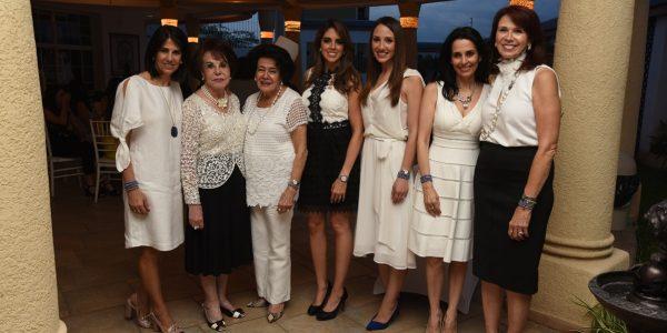 Dina Mena, Noly Kafati, Maruca Mena, Daniela Misas, Pamela y Tatiana Kafati y Gladys Jaar