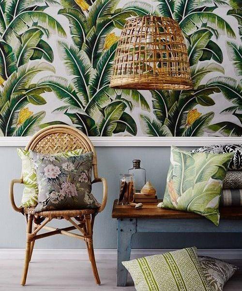 Inspiración tropical para los rincones de tu casa