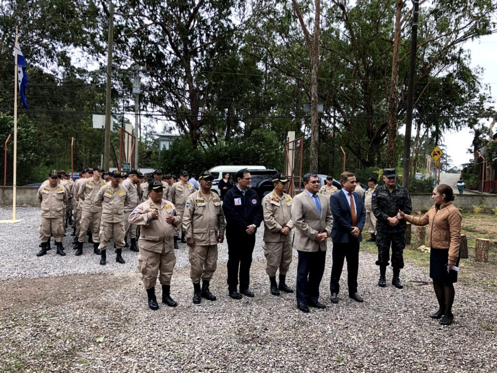 Grupo Midence Soto Pierrefeu y Condado Santa María hacen entrega de Estación Móvil al Heroico y Benémerito Cuerpo de Bomberos de Honduras