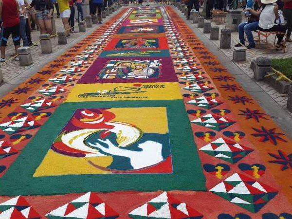 Recordando las hermosos alfombras de aserrín