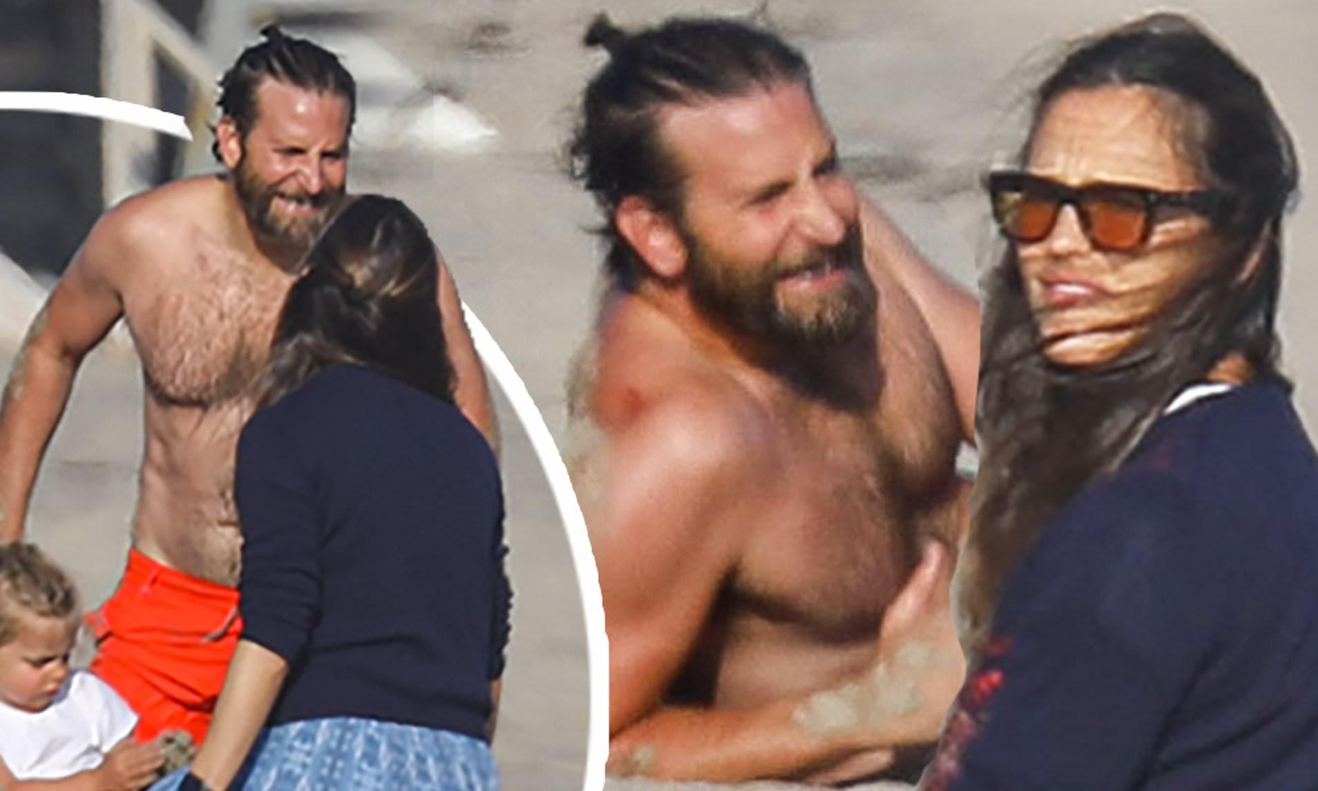 Jennifer Garner y Bradley Cooper comparten un día en la playa