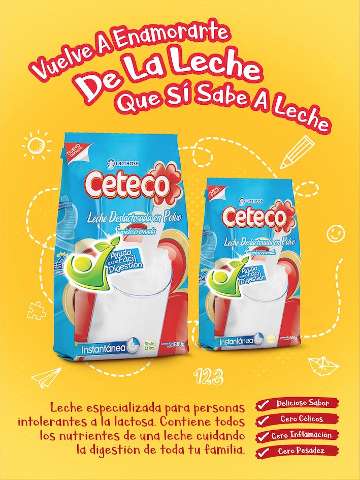 Beneficios de la leche deslactosada Ceteco