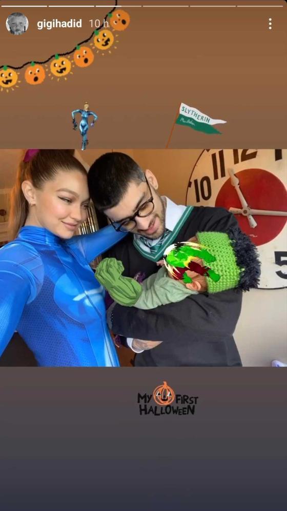 Gigi y Zayn comparten primera selfie con su bebé