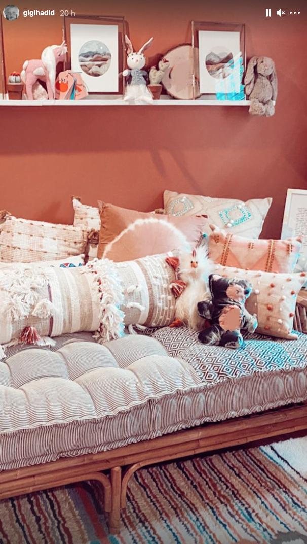 Gigi Hadid mostró el cuarto de su bebé