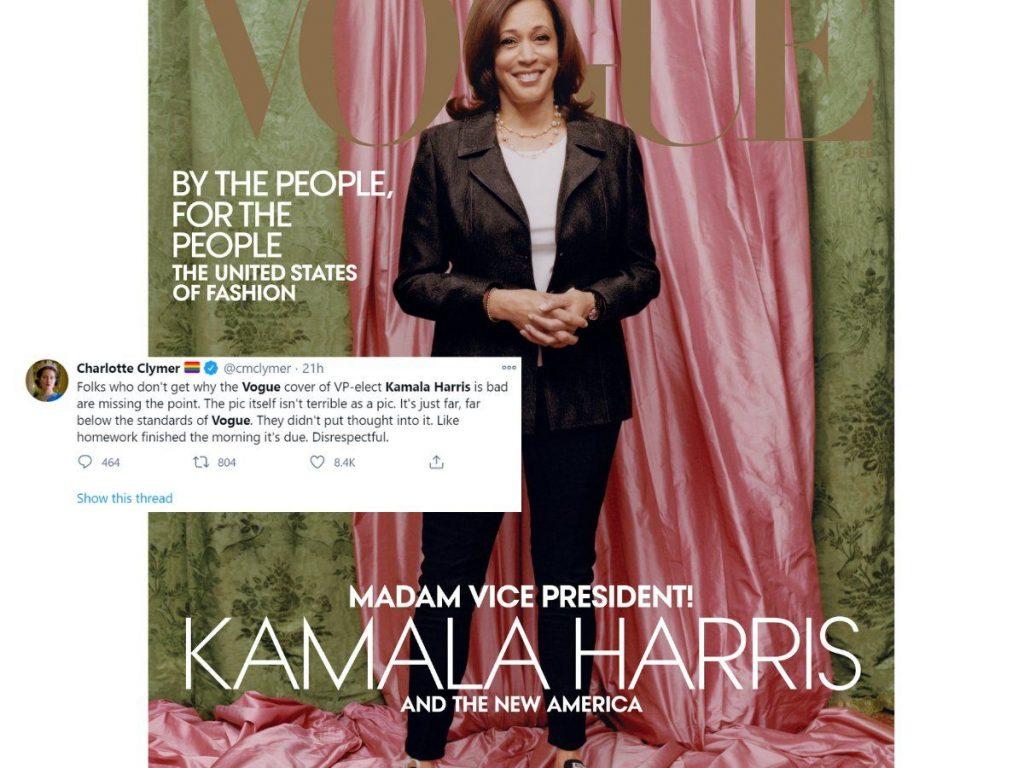 Kamala Harris causa polémica en su primera portada de 'Vogue'