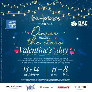 """Las Terrazas de Multiplaza te invitan a su """"Dinner under the Stars"""" para celebrar el Día del Amor y la Amistad"""