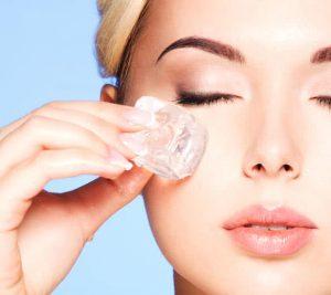 Benefecios del hielo para la piel de tu rostro