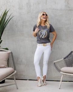 5 maneras de utilizar tus jeans blancos