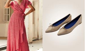 Flats y vestidos midi la combinación perfecta