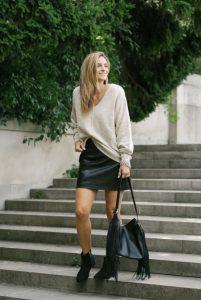 5 maneras de darle un look diferente a tus faldas de cuero