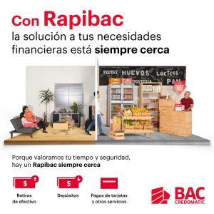 Rapibac supera los 1,600 corresponsales no bancarios de BAC Credomatic
