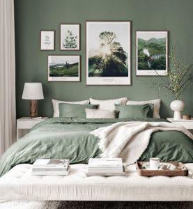 Inspiración de dormitorios decorados con los colores de la temporada