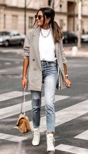 Jeans y blazers la combinación perfecta