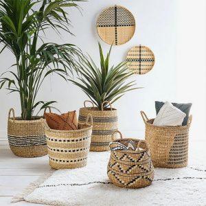 Cómo decorar tu hogar con cestas de mimbre