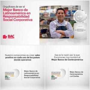 """BAC Credomatic es el """"Mejor Banco de Latinoamérica en Responsabilidad Social Corporativa"""""""