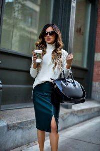 Looks con faldas para ir a la oficina