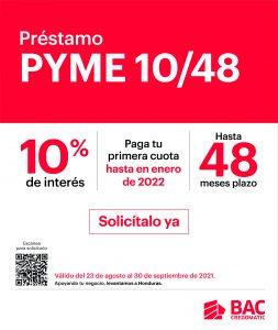 Prepárate para cerrar bien el año con el Préstamo PYME 10/48 de BAC Credomatic