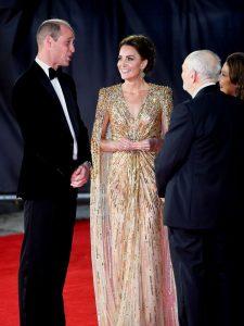 "El impactante look de Kate Middleton en la premiere de ""No time to Die"""