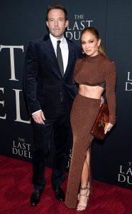 "Jennifer Lopez y Ben Affleck inundaron de amor la alfombra roja de ""The Last Duel"""